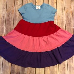 Hanna colorful tiered dress